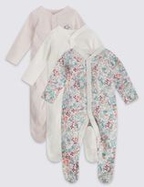 Marks and Spencer 3 Pack Girls' Assorted Sleepsuit