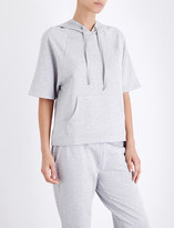 The White Company Cropped jersey hoody
