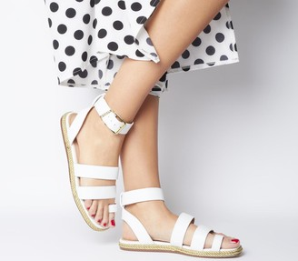 Office Sunny Rope Sole Sandals White