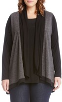 Karen Kane Plus Size Women's Double Knit Cardigan