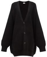Raey Oversized Chunky-knit Wool Cardigan - Womens - Black