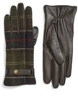 Barbour Women's Tartan Plaid & Leather Gloves