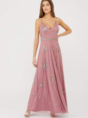 Monsoon Arabella Star Sustainable Maxi Dress - Pink