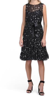 Chiffon Pintuck Dress