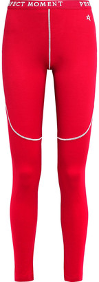 Perfect Moment Monogram-trimmed Jersey Thermal Leggings