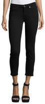 7 For All Mankind Kimmie Cropped Straight-Leg Jeans, B(Air) Black