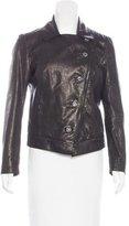 Dolce & Gabbana Leather Embellished Jacket