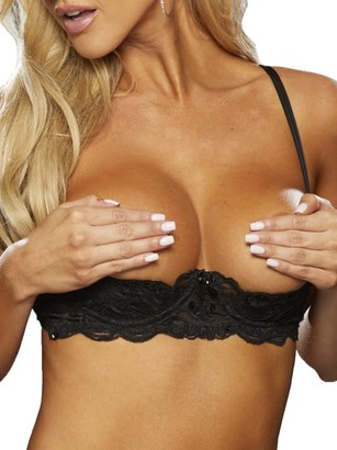 Shirley of Hollywood Embroidered Open Cup Bra