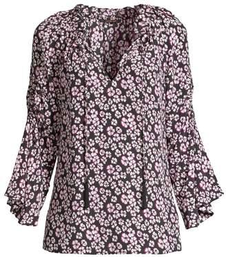 Kobi Halperin Larsen Floral Silk Blouse
