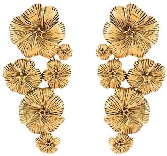 Aurélie Bidermann Pansy floral earrings