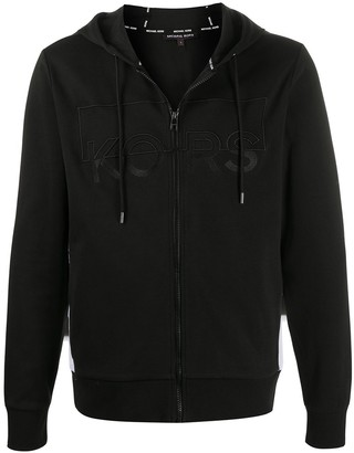 Michael Kors Embroidered Logo Zip-Up Hoodie