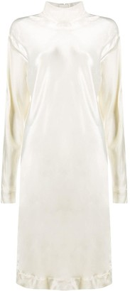 Marni High-Neck Silk Shift Dress