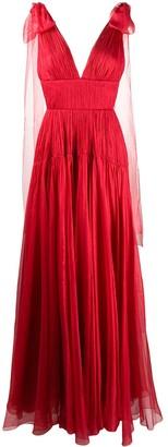 Maria Lucia Hohan Lissa pleated silk gown