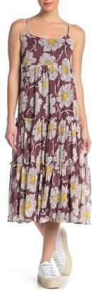 Madewell Floral Frill Braided Strap Maxi Dress