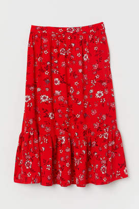 H&M Patterned Flounced Skirt