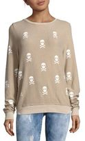 Wildfox Couture Outlaw Scull Printed Long Sleeve Pullover