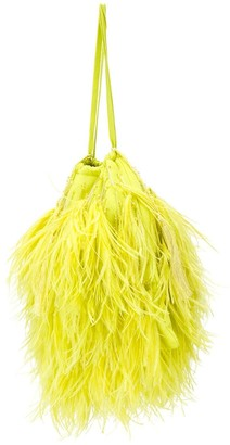 The Attico Greta feather-embellished handbag