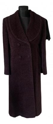 Non Signã© / Unsigned Burgundy Wool Coats