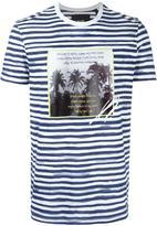 Blood Brother palm tree print striped T-shirt - men - Cotton - S