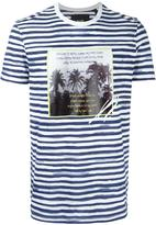 Blood Brother palm tree print striped T-shirt