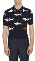 Thom Browne Shark Printed Polo