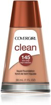 Cover Girl Clean Liquid Makeup, Warm Beige 145, 1.0-Ounce Bottle