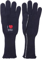 Raf Simons Embroidered Wool Gloves