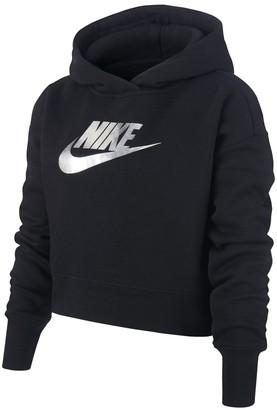 Nike Cropped Hooded Sweatshirt, 6-16 Years