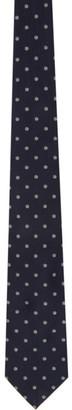 Dunhill Navy Silk Hexbolt Tie