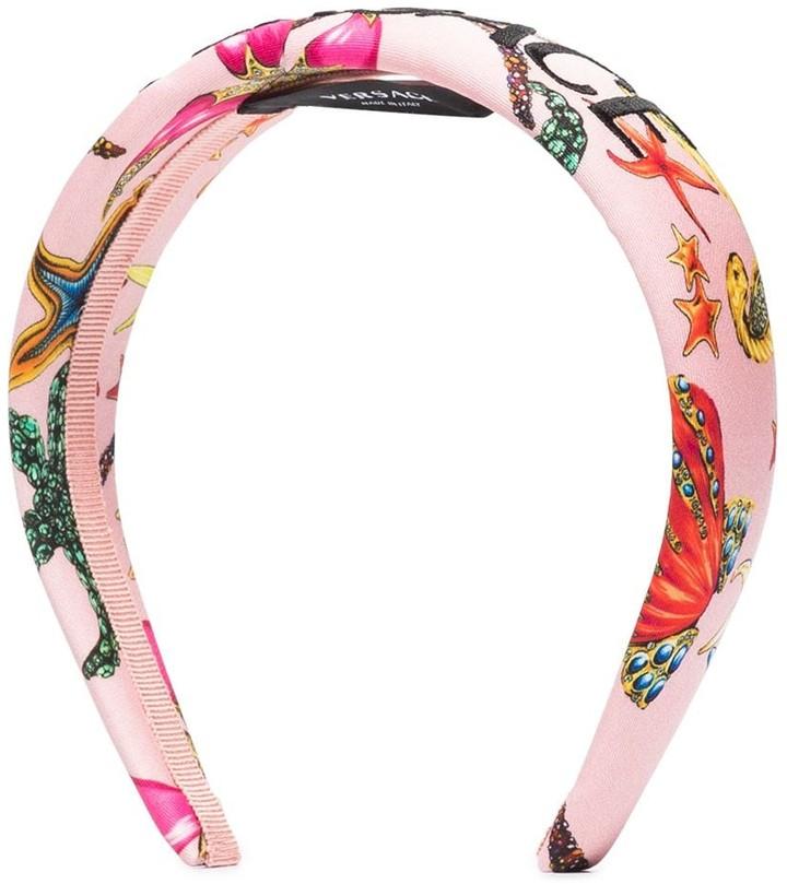 Thumbnail for your product : Versace Tresor de la Mer print headband