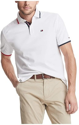 Tommy Hilfiger Kisner Classic Fit Polo (Bright White) Men's Clothing
