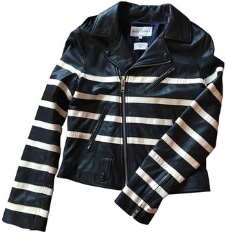 Each X Other Navy Leather Jackets