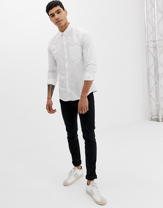 ONLY & SONS slim fit oxford shirt in white