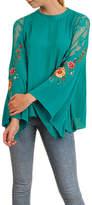 Umgee USA Floral Sleeve Top