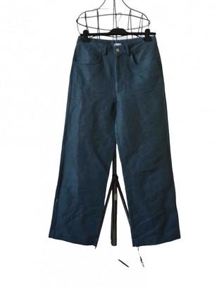 Base Range Blue Cotton Trousers for Women