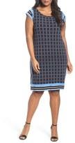 MICHAEL Michael Kors Plus Size Women's Dressage Border Print Shift Dress