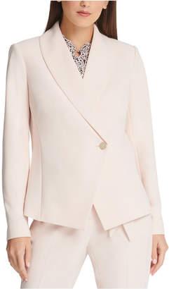 DKNY Asymmetrical Shawl-Collar Blazer