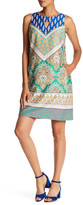Nine West 10637558 Sleeveless Printed Jewel Cocktail Dress