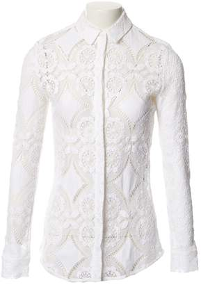 Burberry White Lace Top for Women
