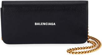 Balenciaga Cash Continental Wallet On Chain, Black/White