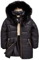 Very Fleece Lined Black Parka