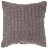 Sofia Cashmere Classic Cashmere Cable Knit Pillow Cover