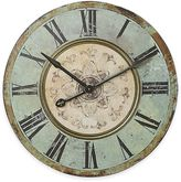 Bed Bath & Beyond Large Distressed Wood Wall Clock in Blue/Green