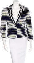 Tory Burch Fitted Striped Blazer