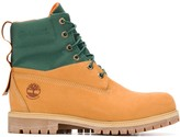 Timberland canvas-panelled construction boots