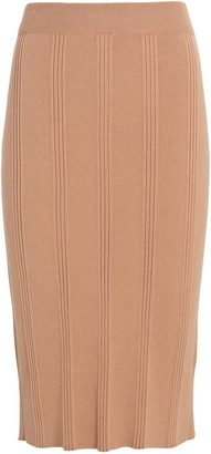 L'Agence Jessica Rib Knit Pencil Skirt