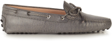 Tod's Gommino reptile-effect leather loafers