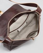 Marni Flap-Top Leather Crossbody Bag, Brown