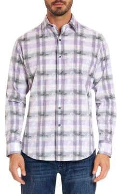 Robert Graham Paisley Plaid Cotton Casual Button-Down Shirt