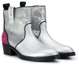 Emilio Pucci Junior TEEN sequinned ankle boots